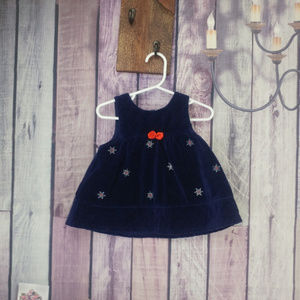 Other - Girls navy blue dress snowflakes 3-6 month F35
